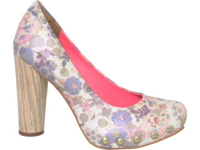 Sapato Feminino Tanara 1441 Florido