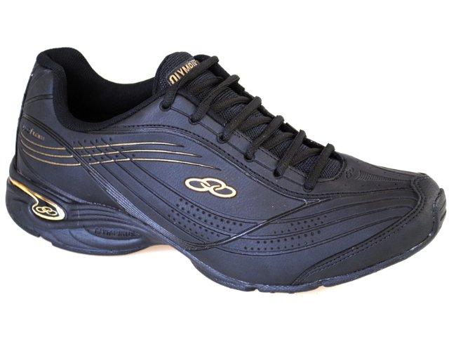 Tênis Masculino Olympikus Energy 568 Preto/ouro