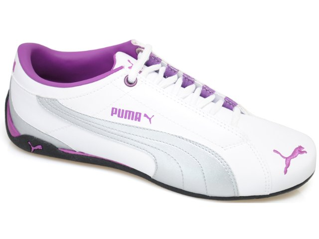 Tênis Feminino Puma 468073 Bco/prt/roxo
