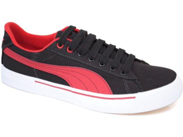 Tênis Masculino Puma 468536 Preto/vermelho