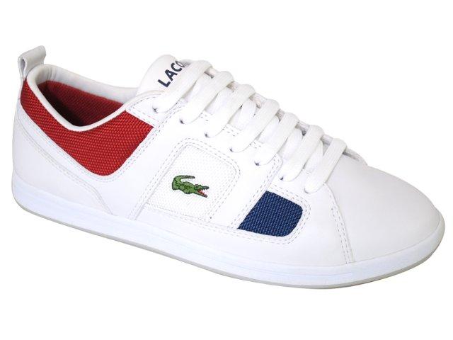 Tênis Masculino Lacoste Observe 18s9m1071 Branco/vermelho