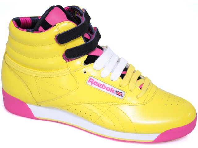 Tennis Bota Feminina Reebok Jungle Amarelo