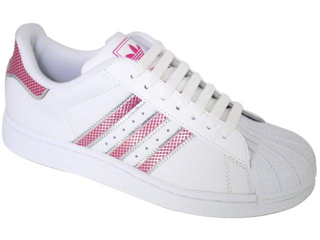 Tênis Feminino Adidas Star G19834 Branco/cereja