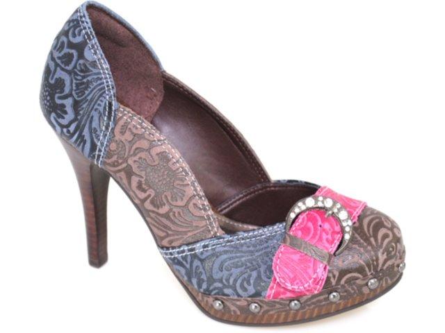 Sapato Feminino Tanara 0935 Marinho/pink