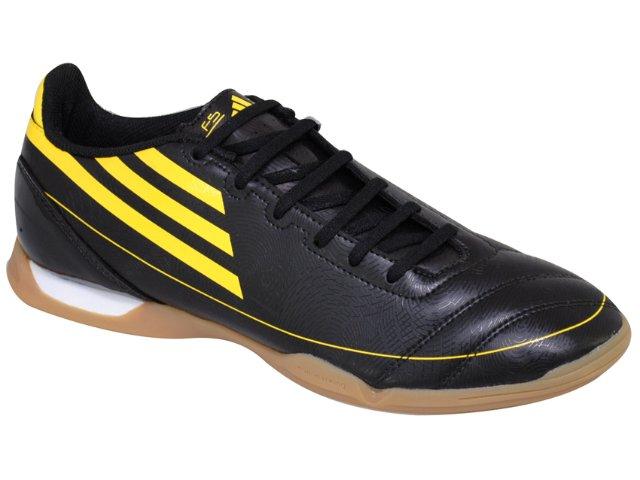 Tênis Masculino Adidas f5 in G13539 Preto/amarelo