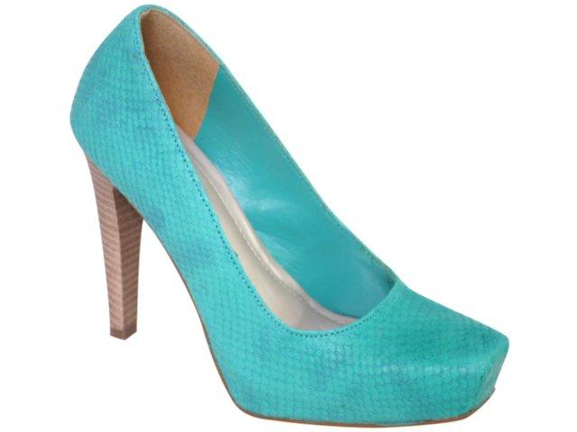 Sapato Feminino Via Marte 10-16005 Turquesa