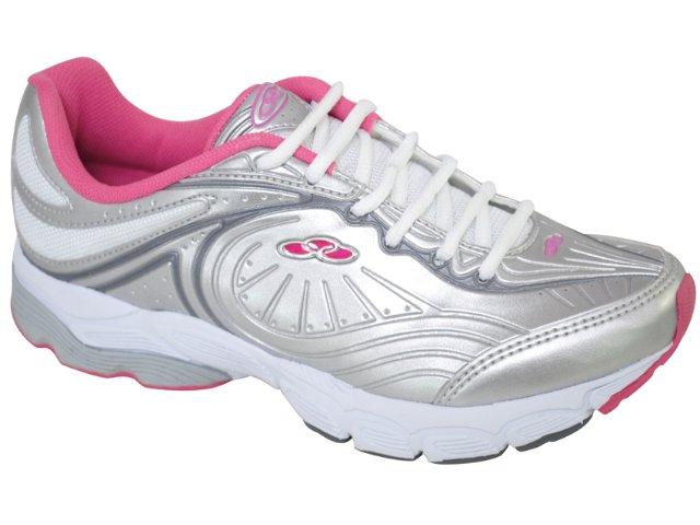 Tênis Feminino Olympikus Luna 608 Prata/pink