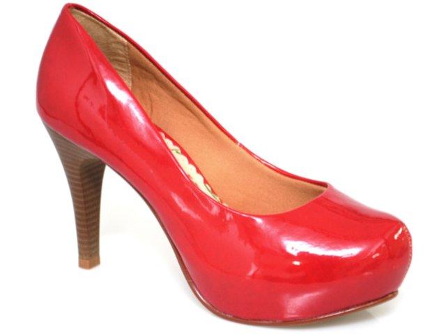 Sapato Feminino Maina Cardoso 6301 Vermelho