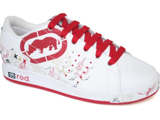 Tênis Feminino Ecko 26551 Branco/vermelho