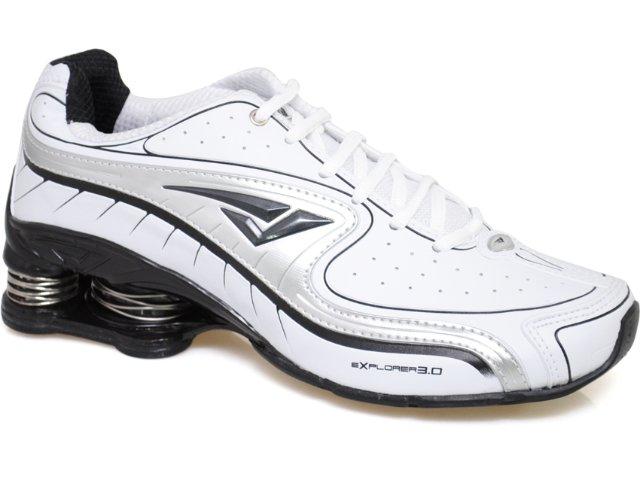 Tênis Masculino Bouts 7814 Branco/prata