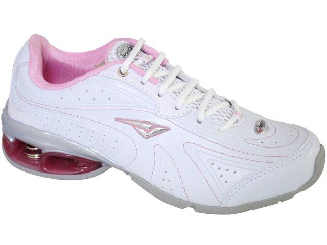 Tênis Feminino Bouts 8723 Branco/rosa