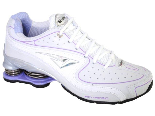 Tênis Feminino Bouts 7814 Branco/lilas