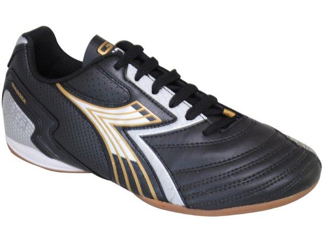 Tênis Masculino Diadora go Str 350837 Preto/dourado