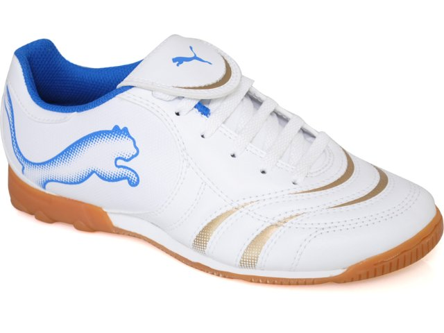 Tênis Uni Infantil Puma 101934 Branco/azul
