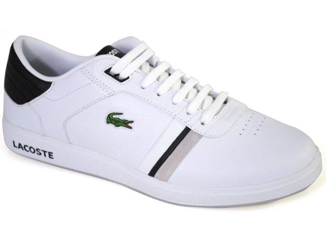 Tênis Masculino Lacoste Kersley Spm2701 Branco/preto
