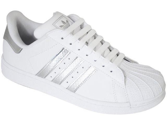 Tênis Feminino Adidas G19835 Star 2 Bling Branco/prata