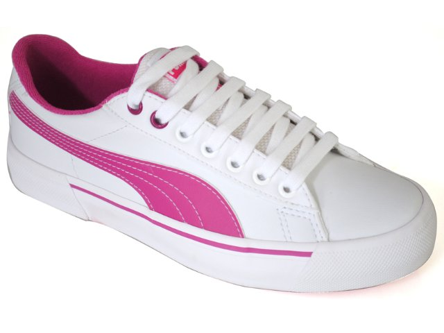 Tênis Feminino Puma 468537 Branco/rosa