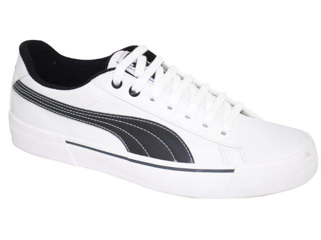 Tênis Masculino Puma 468537 Branco/preto