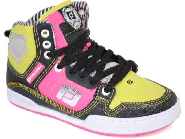 Tennis Bota Feminina Free Day 11454 Preto/pink