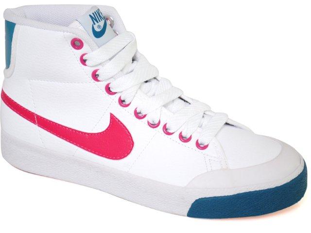 Tênis Feminino Nike All Court 387369-103 Branco/pink