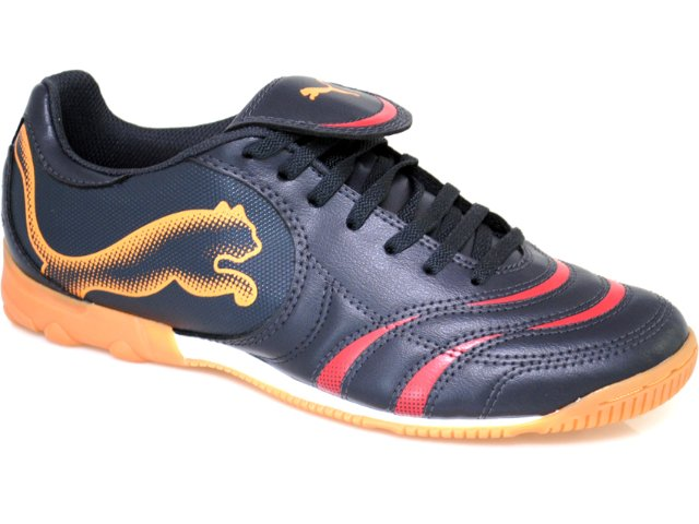 Tênis Masculino Puma 101920 Pto/verm/laranja