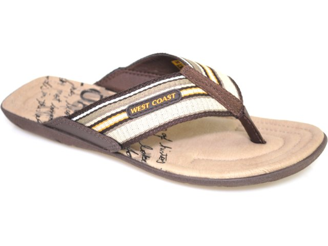 Chinelo Masculino West Coast 47613/0003 Café