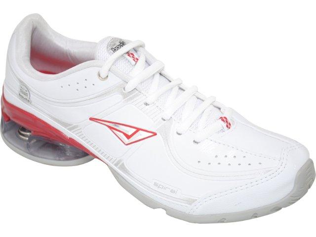 Tênis Feminino Bouts 8724 Branco/vermelho