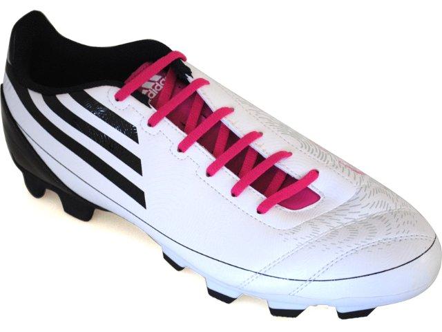 Chuteira Masculina Adidas G13546 f5 Bco/prt/pink