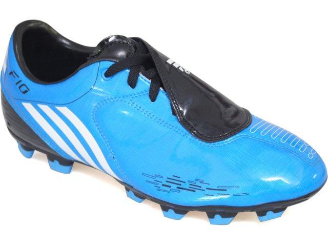 Chuteira Masculina Adidas F10 Trx G02207 Azul/preto