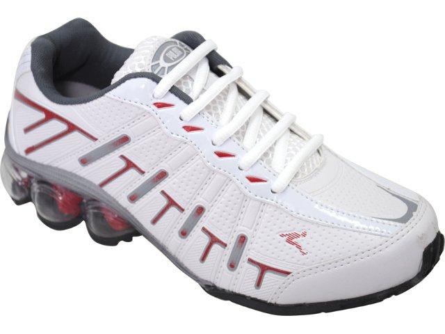 Tênis Masculino Pulma 3060 Branco/vermelho