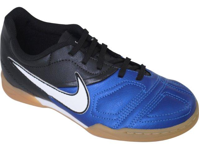 Tênis Uni Infantil Nike Enganche 387370-400 Preto/branco/azul
