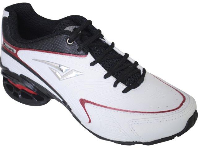 Tênis Masculino Bouts 9012 Branco/pt/vermelho