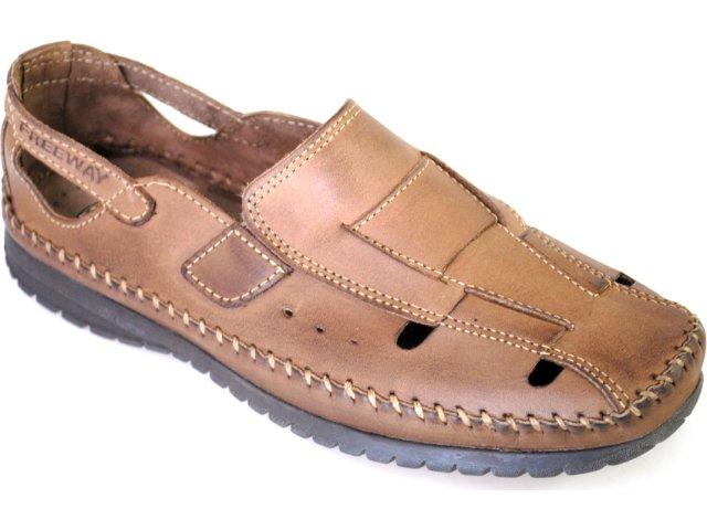 Sapato Masculino Free Way Sun-3 Sesamo