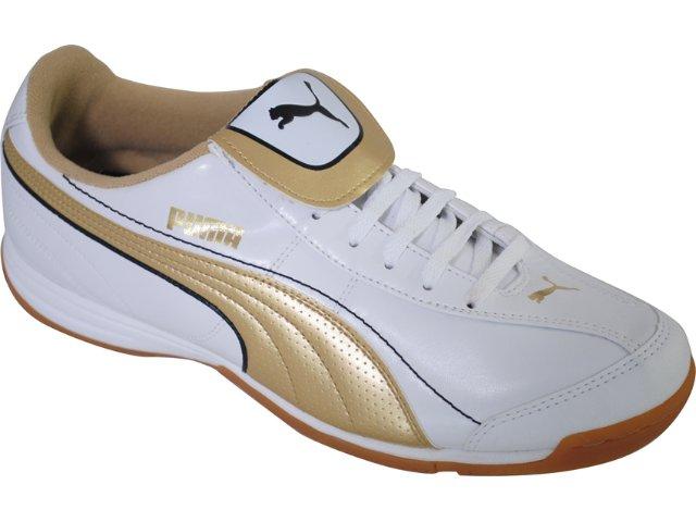 Tênis Masculino Puma 101603 Branco/ouro