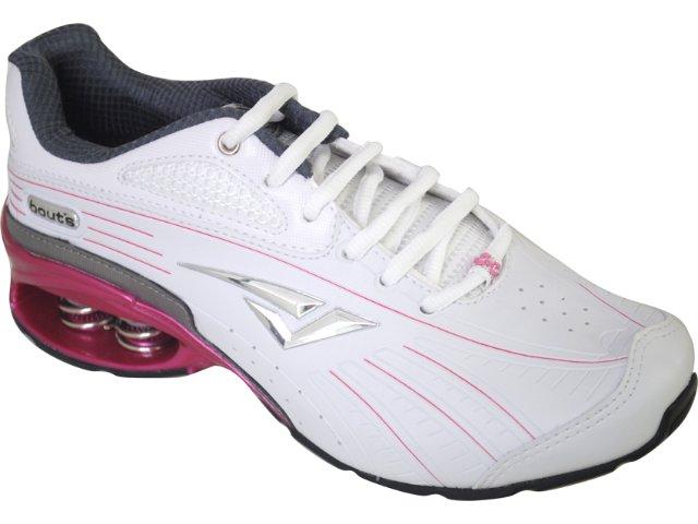 Tênis Feminino Bouts 7323 Bco/chumbo/rosa