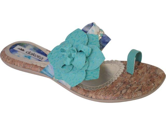 Tamanco Feminino Dakota 5395 Jade/azul