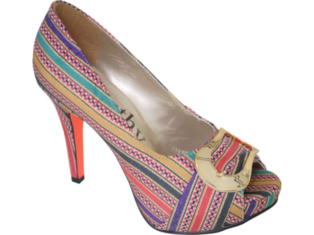 Peep Toe Feminino Beauthy 8010 Color