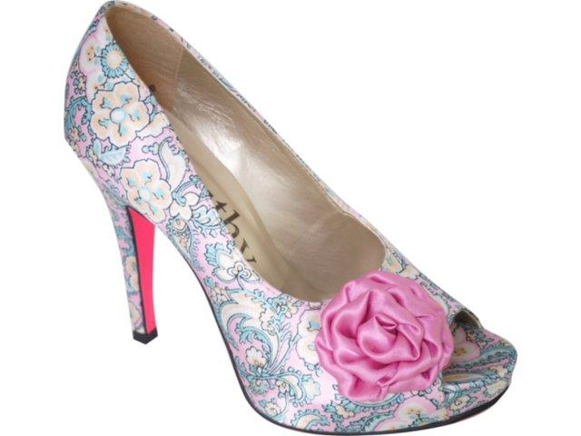 Peep Toe Feminino Beauthy 8009 Color