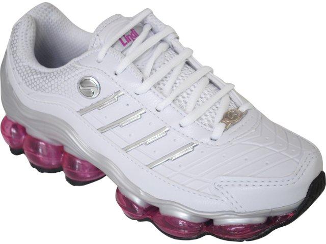 Tênis Feminino Lynd Lindi 114 Bco/prt/pink