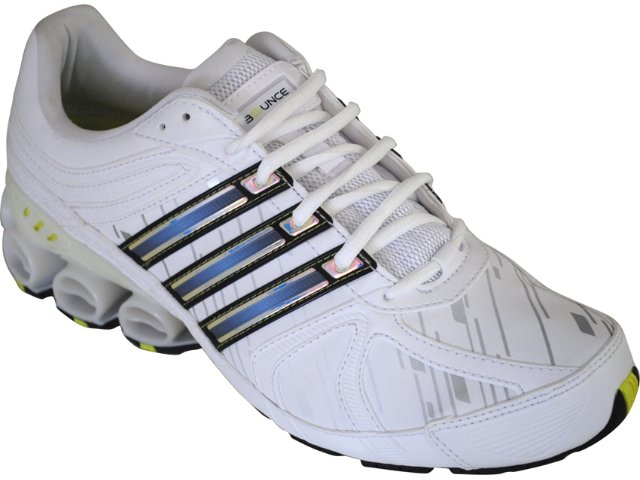 Tênis Masculino Adidas Shikoba G17027 Branco/azul/amarelo