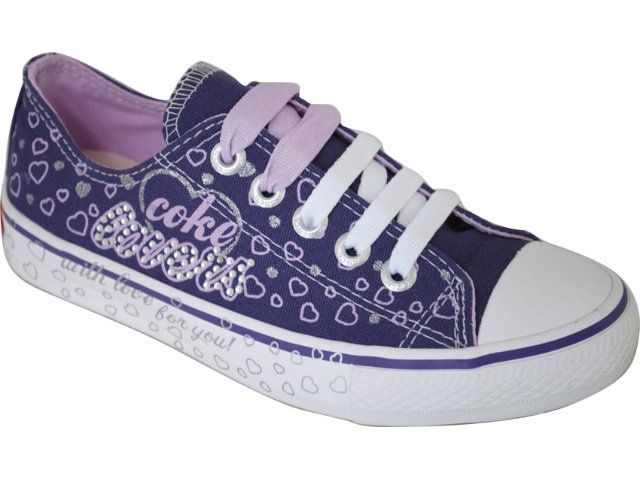 Tênis Feminino Coca-cola Shoes C0052002 Uva