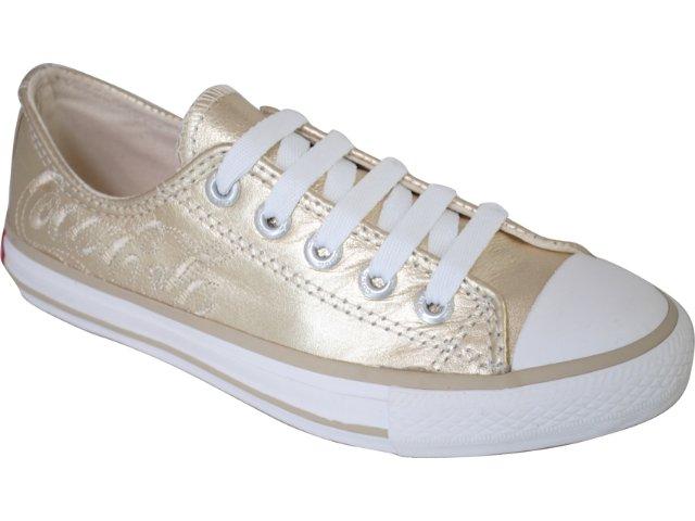 Tênis Feminino Coca-cola Shoes C0021706 Ouro