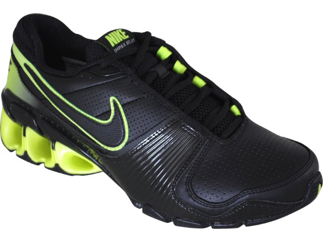 Tênis Masculino Nike Impax 386485-007 Preto/verde