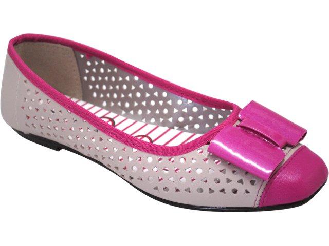 Sapatilha Feminina Moleca 5105101 Bege/pink