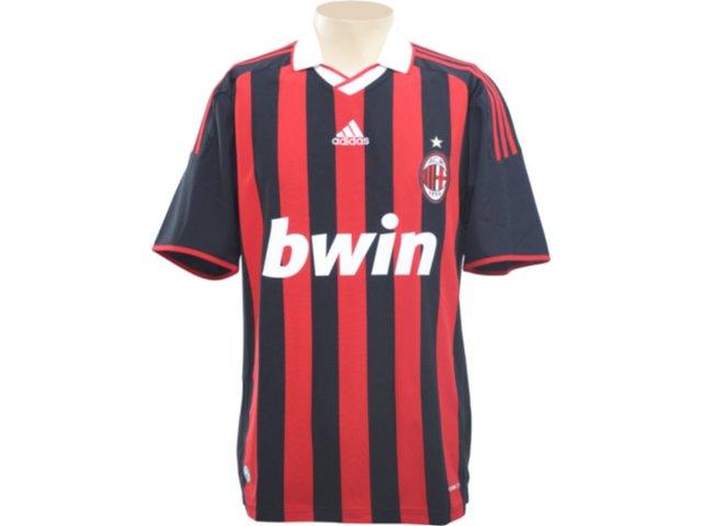 Camisa Masculina Adidas E84210 Milan Preto/vermelho