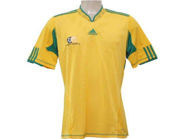 Camiseta Masculina Adidas Africa do Sul P41442 Amarelo
