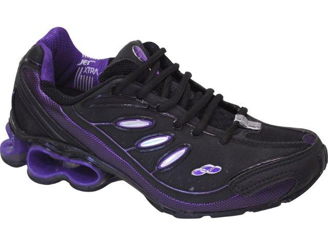 Tênis Feminino Olympikus Centurion 675 Preto/violeta