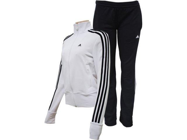 Abrigo Feminino Adidas E14707 Branco/preto