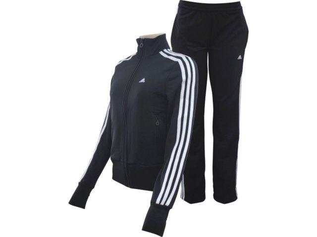 Abrigo Feminino Adidas E14706 Preto/branco