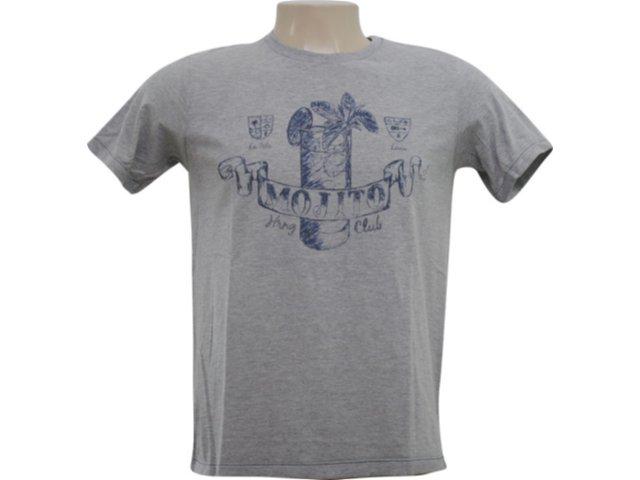Camiseta Masculina Hering 4c2f M2h10s Cinza